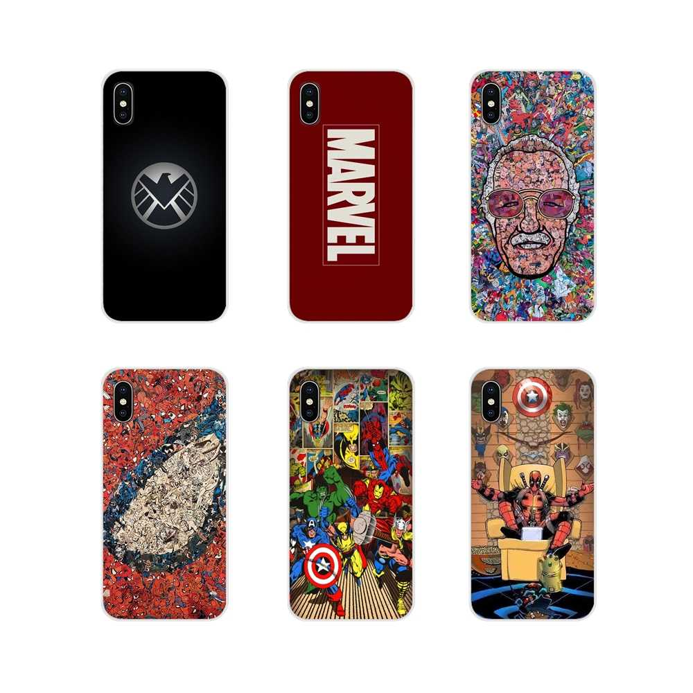 Marvel Comics Avengers Superhero Collages โทรศัพท์มือถือกรณีเชลล์สำหรับ Motorola Moto X4 E4 E5 G5 G5S G6 Z Z2 z3 G3 G2 C Play PLUS