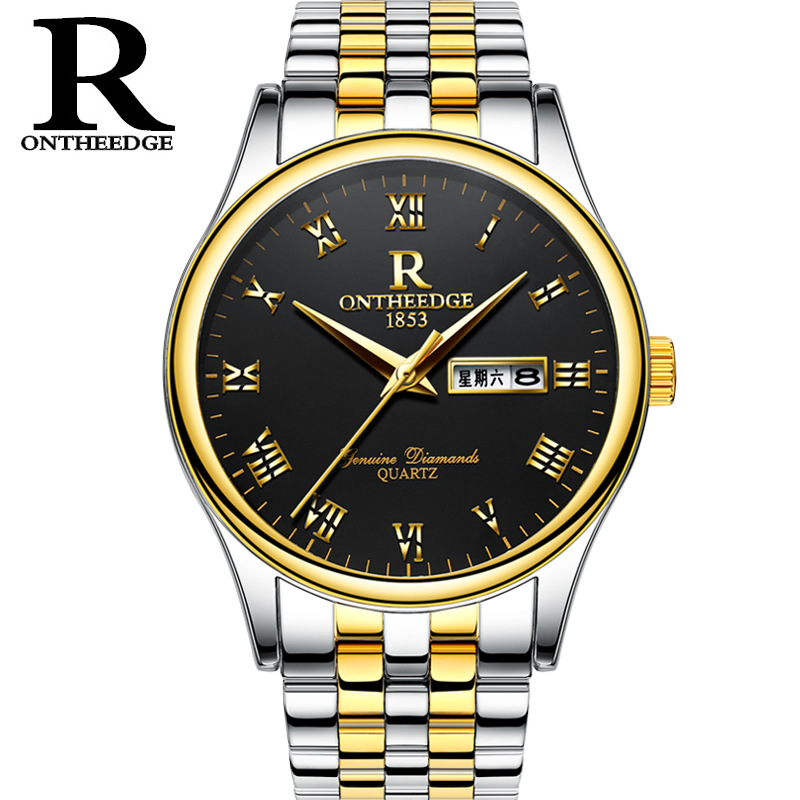 Relogio Masculino Men Classic Business Watch Luxury Mens Quartz Watches Double calendar Waterproof Wristwatch Zegarki Meskie