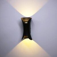 10w مصباح LED فائق السطوع الجدار ضوء الألومنيوم في الهواء الطلق للماء الجدار مصباح حديقة الشرفة فناء جانبا الباب الأمامي الإضاءة ضوء bl800
