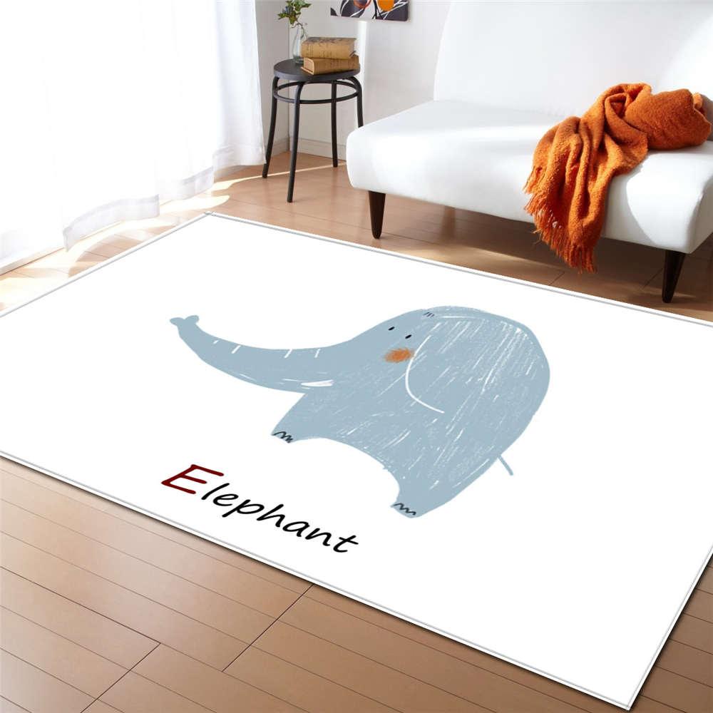 Baby Kids Cotton Soft Warm Antislip Cute Bunny Bear Elephant Floor Mat 140X200cm