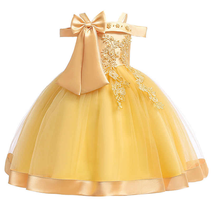 Big bow tutu Dress for Girls Wedding Beading Flower Girls Dress Princess Party Pageant Formal Dress Prom for Baby Girl Birthday