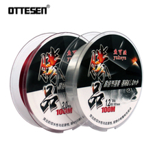 OTTESEN 100m Fluorocarbon Fishing Line Carbon Fiber Leader 2colors professional quality fly fishing line pesca peche tackle