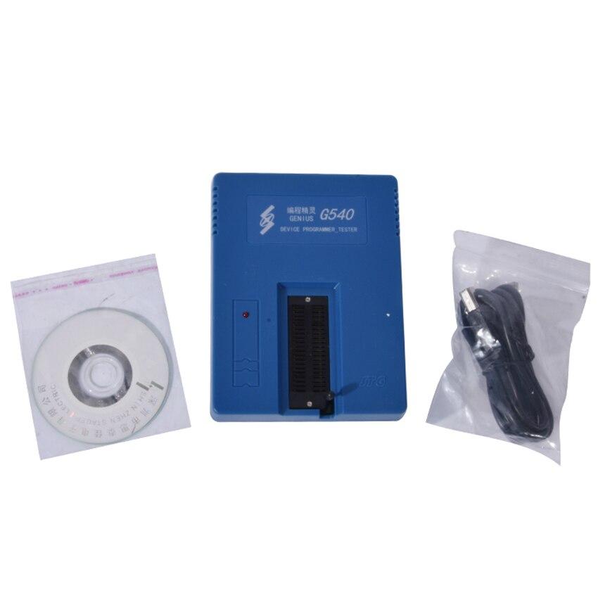 1 pcs GENIUS G540 EPROM MCU GAL PIC USB Universal Programmer usb tl866cs programmer eprom spi flash avr gal pic 9pcs adapters test clip 25 spi flash support in circuit programming adapter