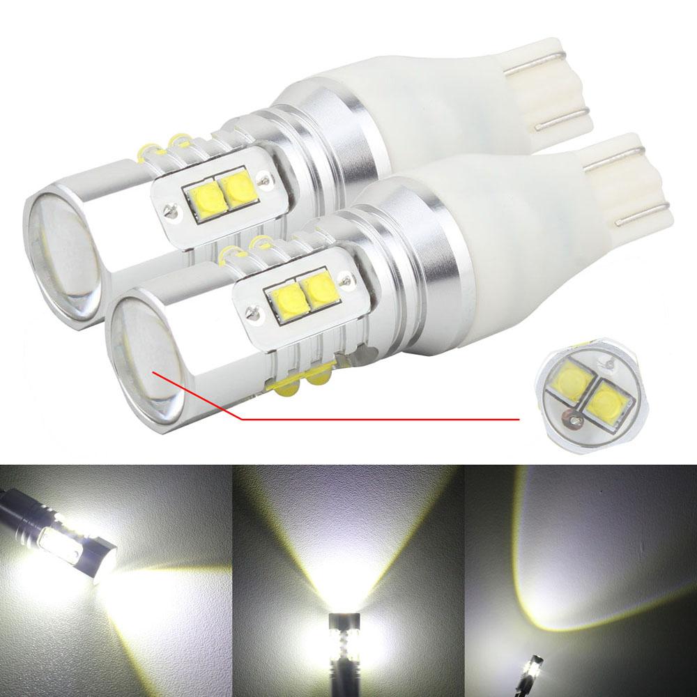 Prix pour 2 pcs T15 W16W 50 W XB-D LED Inverse De Voiture de Lumière/Sauvegarde lampe/Queue Feu arrière/Avant Feux de Brouillard Blanc 12 V