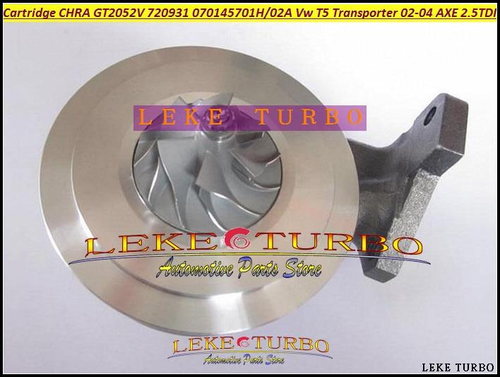 Free Ship Turbo Cartridge CHRA GT2052V 720931 720931-5004S 720931-0001 070145702A AX AV For VW T5 Transporter 02-04 AXE 2.5L TDI  цены