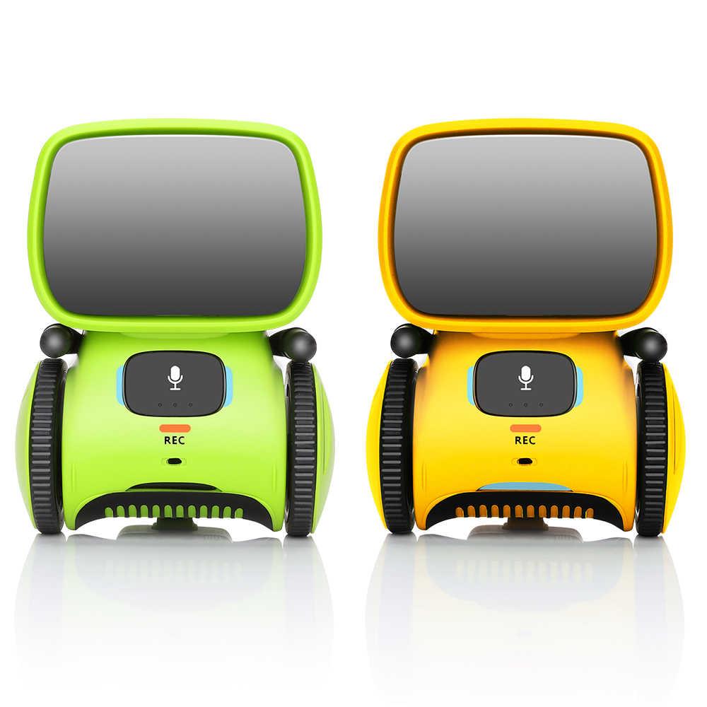 קול שליטת מגע חישה מוסיקה מגניב פעולה אינטליגנטי רובוט פעולה דמויות צעצועים לילדים בנים