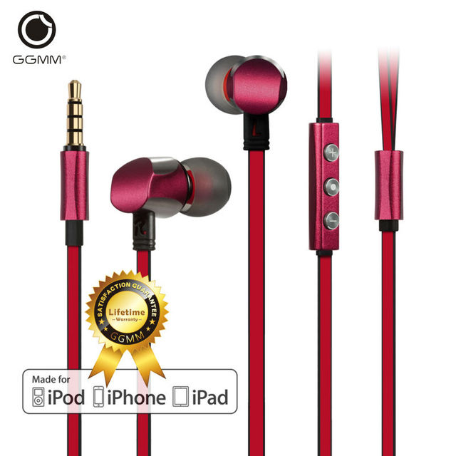 GGMM Cuckoo In Ear Earphones Noise-Isolating Earbuds Metal Sports Wired Stereo Earphone for iPhone iPod Mobile Phone