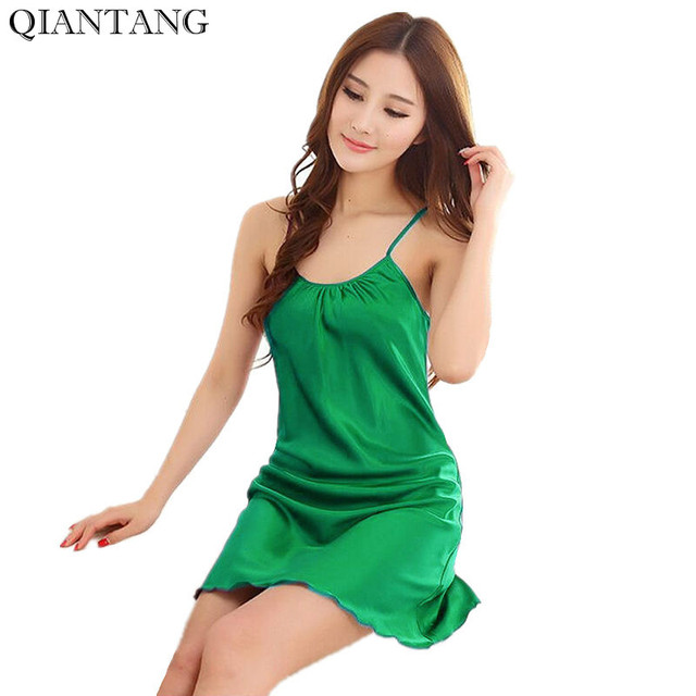 061b6cfaab42 New Green Women s Robe Bathgown Short Sleepwear Faux Silk Bath Gown  Nightdress Top Selling Pyjamas Size M L XL XXL M8143
