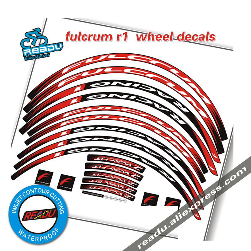 R1 Road Bike Wheelset decals two wheels rims stickers decals for fulcrum R1 30mm race cycling decals