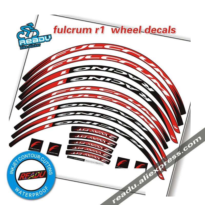 R1 Vélo de Route De Roues stickers deux roues jantes autocollants stickers pour fulcrum R1 30mm course vélo stickers