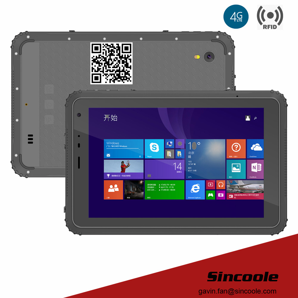 8 inch smart windows NFC rugged Tablets tough pad and panel PC