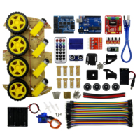 Bluetooth Controlled Robot Car Kits 4WD Tons of Published Free Codes UNO R3 MEGA328P for Compatible with UNO R3