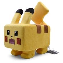 Square Pikachu Plush Toy Soft Stuffed Doll Big Face Cute Good Gift