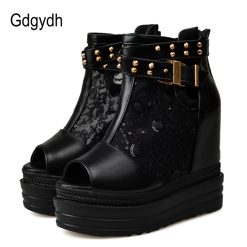 Gdgydh  Sexy Summer Shoes Woman Fashion Rivet Lades Summer Boots Wedges Crystals Female Footwear 2019 New Spring Drop ShippingGdgydh  Sexy Summer Shoes Woman Fashion Rivet Lades Summer Boots Wedges Crystals Female Footwear 2019 New Spring Drop Shipping