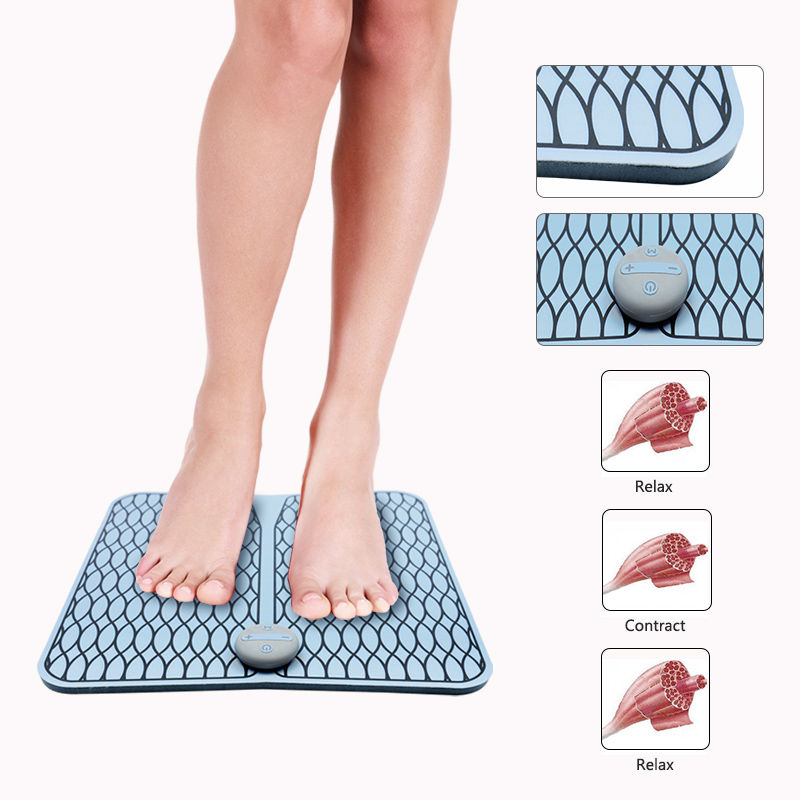 VONMIE Foot Vibrator Wireless Muscle Stimulator EMS Foot Massager ABS Physiotherapy USB Rechargeable Revitalizing Pedicure Tens
