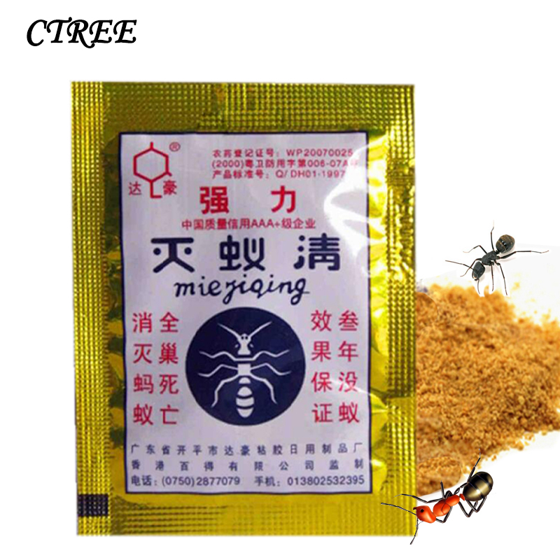 CTREE 5Pcs Ant Baits Drug Powder Killer Insect Net Bait Reject Catcher Pest Control Repeller Powerful Effective Trap Anti C54