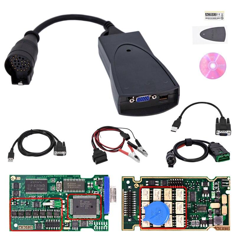 PP2000 V25 Lexia3 Lexia-3 V48 Diagbox V7.83 с полной чип Lexia 3 PP2000 для автомобиля инструмент диагностики