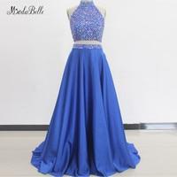 modabelle Two 2 Piece Royal Blue Prom Dresses Robe De Soiree Crystal Prom Dresses Long Vestidos De Gala Largos Elegantes