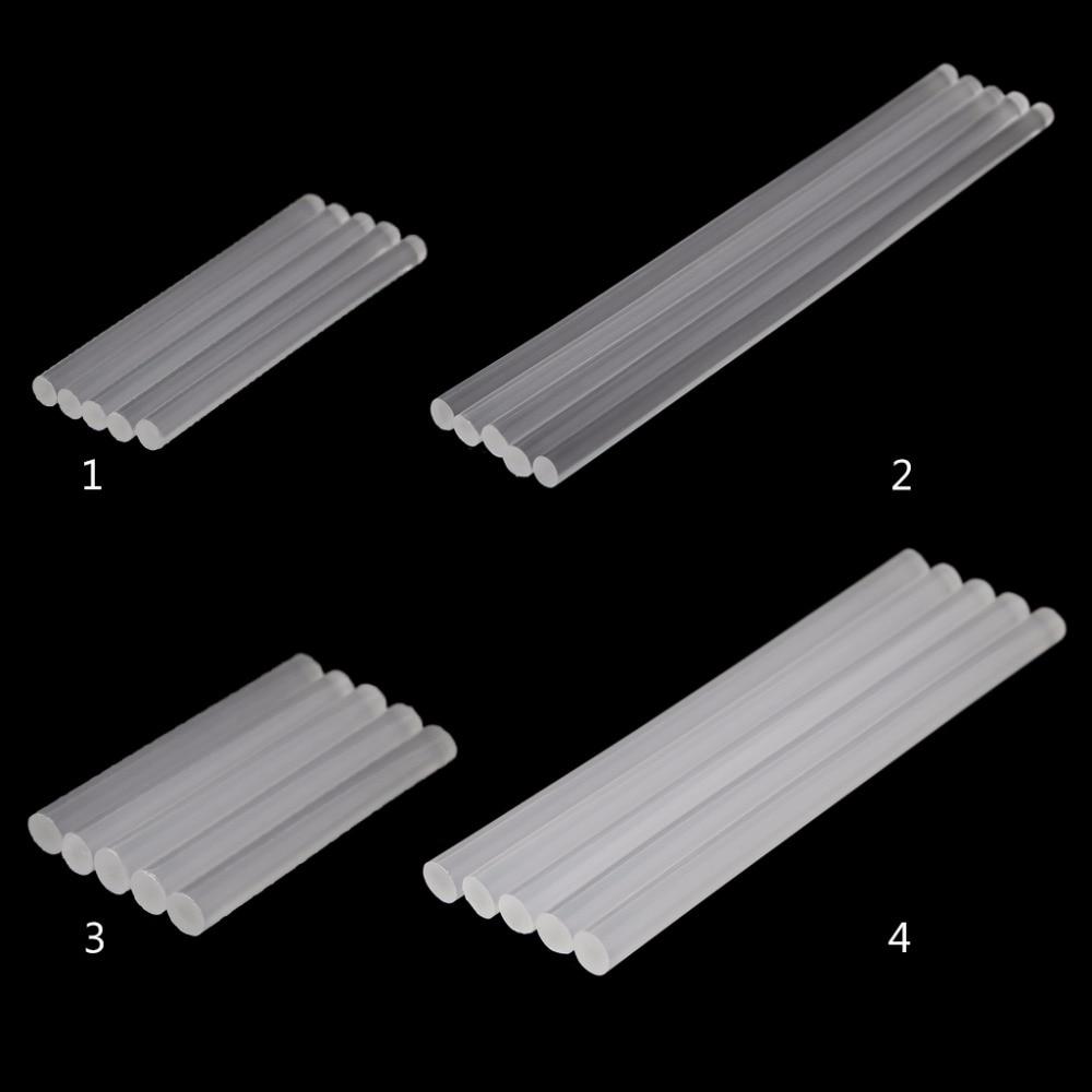 5pcs Hot Melt Glue Stick Transparent Adhesive For DIY Crafts Toys Repair Tools
