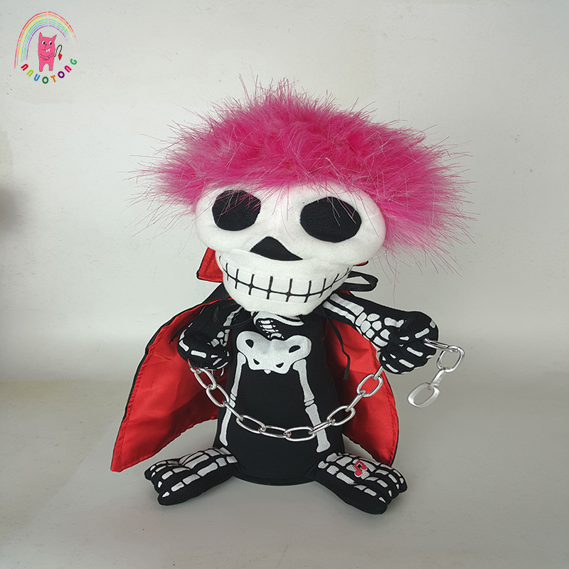revolving dancing ghost sounding lighting skull toy kuso dolls halloween thriller night electric horror plush doll birthday gift - Halloween Lights Thriller