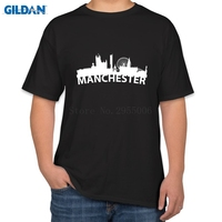 Breathable T Shirt Men Cotton United Kingdom Red Manchester Print T Shirt Men Cotton Funny T
