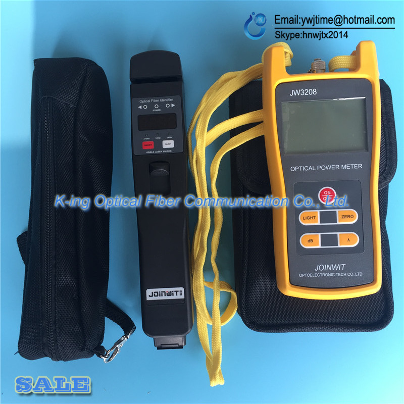 2PCS JOINWIT JW3208 Optical Power Meter JW3208A Portable -70~+6dBm+JW3306D Live Fiber Identifier Optical Fiber Identifier