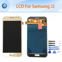 Black white gold LCD screen for Samsung Galaxy J2 J200 LCD display touch panel digitizer assembly complete replacement screen