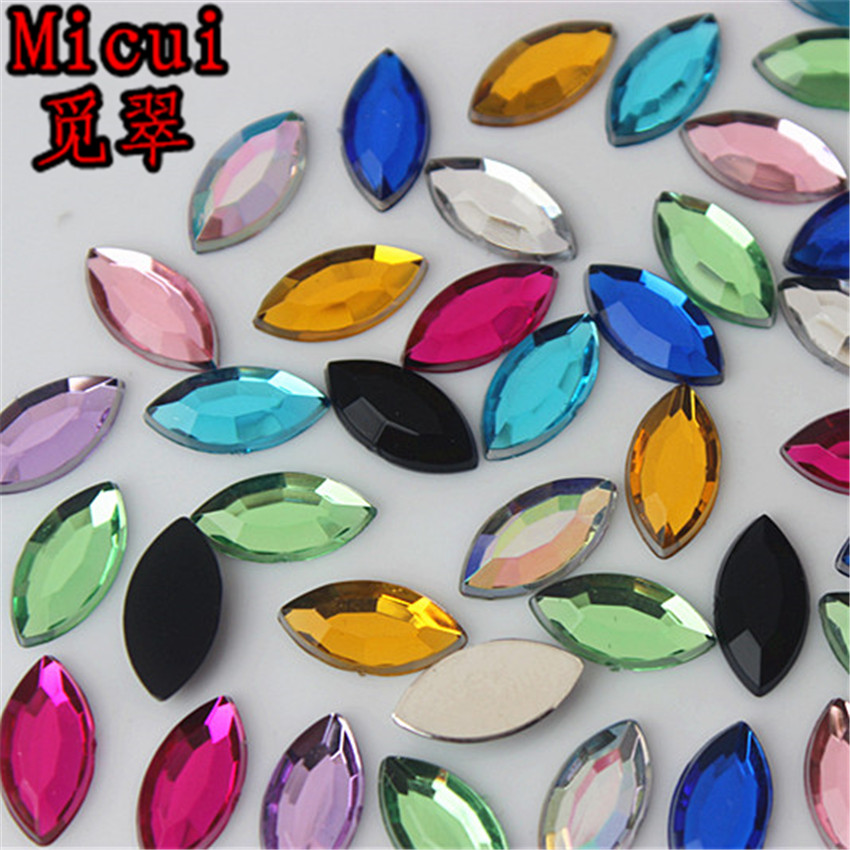 Detail Feedback Questions about Micui 200pcs 6 12mm Horse eye Crystals  Flatback Rhinestones Acrylic Crystal Strass Non Hotfix Clear Crystal Stones  ZZ664 on ... 4379f9a7e0e3