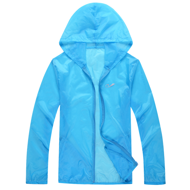 Women Spring Summer Outdoor Thin Jacket Waterproof Sun-Protection Movement Coat Lightweight Quick-Dry Men Hiking Jackets 1608