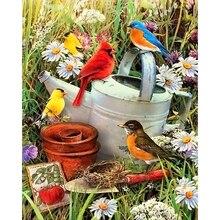 5D DIY Полная квадратная/круглая алмазная живопись цветы и птицы вышивка крестиком Стразы мозаика домашний декор
