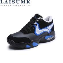2019 LAISUMK Men Shoes New Fashion Men Casual Shoes Lace-up Warm Brand Winter Shoes Mixed Color High Top Flat with Mens Shoes цена в Москве и Питере