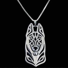 German Shepherd dog pendant necklaces for men women silver/gold color long chain male female choker necklace collier femme 2017