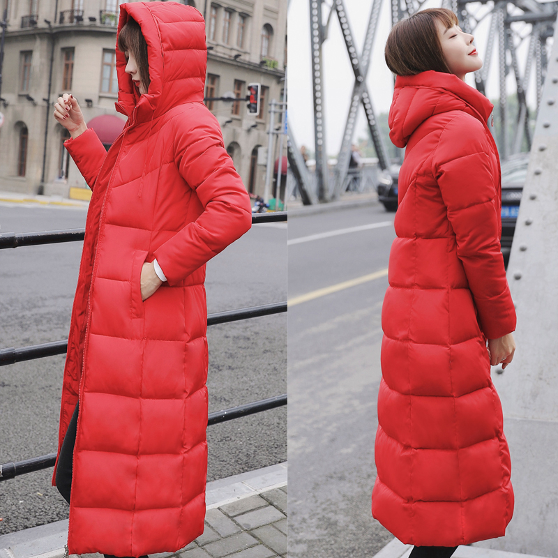 Plus Size 4XL 5XL 6XL womens Winter Jackets Hooded Stand Collar Cotton Padded Female Coat Winter Women Long Parka Warm Thicken 24