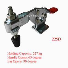 5PCS 227KG 500LBS U Bar Flanged Base Horizontal Toggle Clamp 225D replacing red long handle u bar 500lbs horizontal toggle clamp 203p