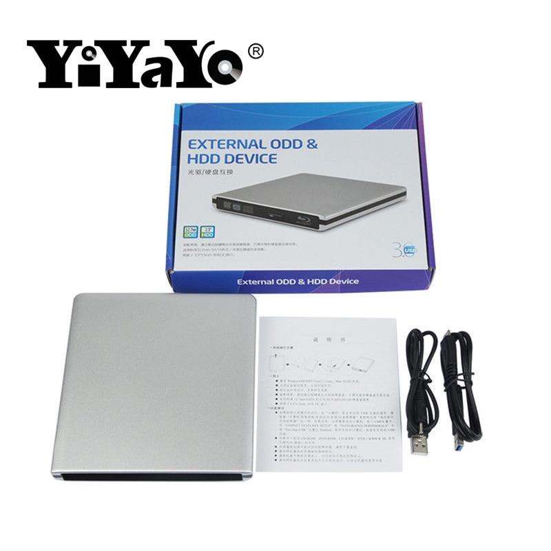 YiYaYo Blu-ray նվագարկիչ Արտաքին USB3.0 DVD / BD-RW - Համակարգչային բաղադրիչներ - Լուսանկար 6