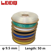 LDDQ 50m 3:1 Heat shrink tubing adhesive with glue Waterproof Dia 9.5mm Seven color Cable sleeve Shrinkable tube termoretractil