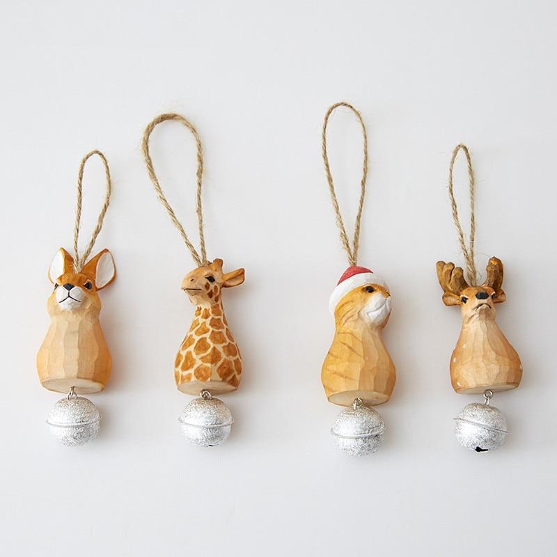 creative hanging gift handmade carving wood rabbit cat ...