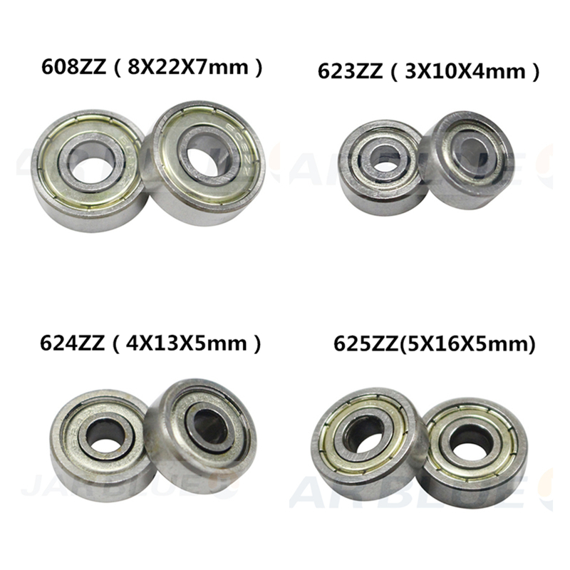 Pulley-Wheel Ball-Bearing Printers-Parts 625zz 688zz Flanged Deep-Groove 3D 10PCS