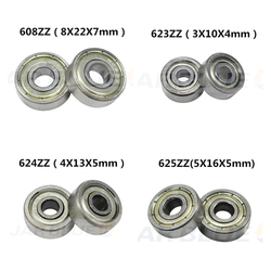 Free Shipping 10PCS Ball Bearing 608zz 623zz 624zz 625zz 635zz 626zz 688zz 3D Printers Parts Deep Groove Flanged Pulley Wheel
