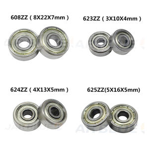 Pulley-Wheel Ball-Bearing Printers-Parts 625zz 688zz Deep-Groove Flanged 10PCS 3D