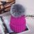 2016 Sombreros de Invierno para Las Mujeres Casual Lana Acrílica con 15 cm Zorro Sombrero con Pompón de piel Unisex Hombres de Las Mujeres de Piel Real Casquillo Hecho Punto