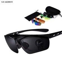 5 Lens Polarized Cycling Eyewear Glasses Outdoor Sports Cycling Sunglasses Men UV400 MTB Bike Bicycle Fishing Climbing Goggles