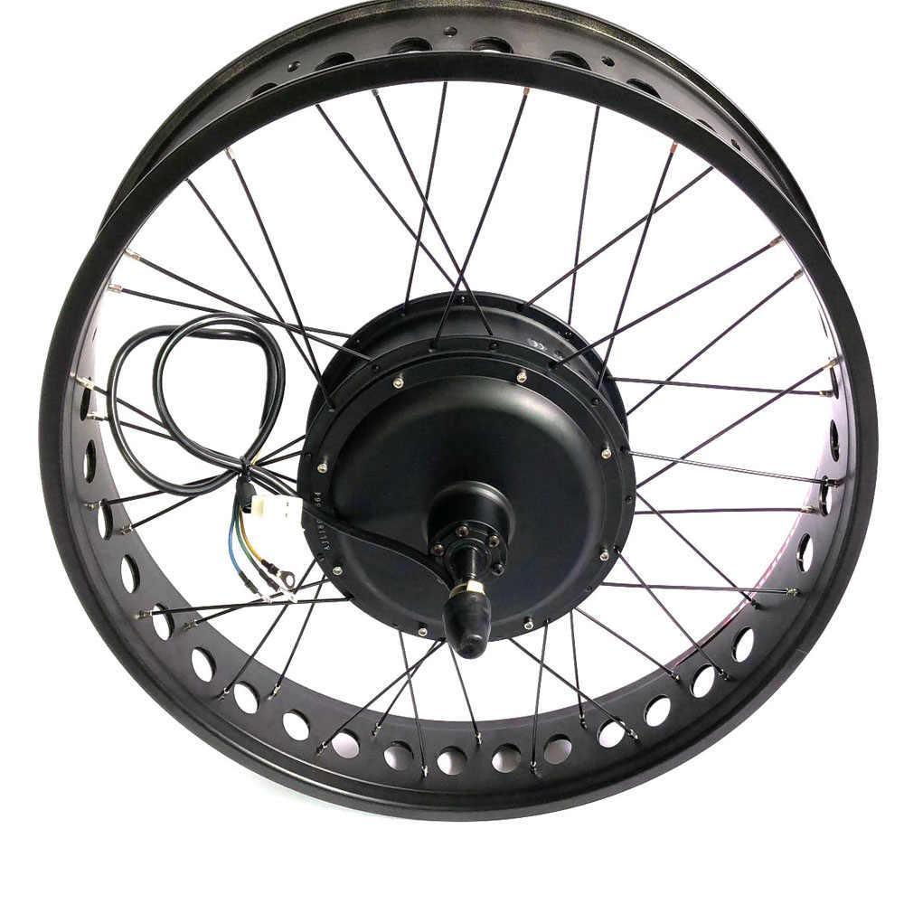 "48V 750W Fat Ebike Conversion Kit CSC 26"" 4.0 Tyre Colorful Electric Snow Bike Front Wheel Rear Wheel Conversion Parts"