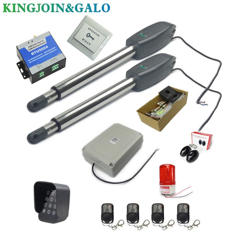 Image 5 - DC24V AC220V Linear Actuator Worm Gear Automatic Swing Gate Opener (photocells, lamp,button,gsm,keypad optional)-in Access Control Kits from Security & Protection