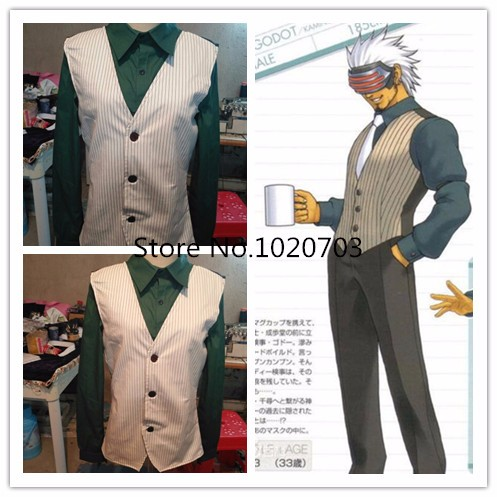Ace Attorney Gyakuten Saiban Godot Commission Cosplay Costume