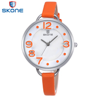 SKONE High Quality Ladies Watch Business Genuine Leather Belt Date Relogios Feminino 2015 Fashion New With