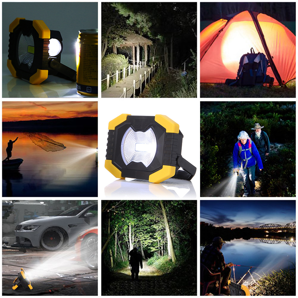Купить с кэшбэком Portable Work Light 2400mAh Battery Solar energy Light Tent Lantern USB Rechargeable   Searchlight For Hunting Camping Latern