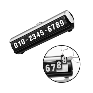 Image 3 - Productos interiores del coche pegatina de coche señal de parada temporal teléfono móvil número placa luminosa creativa