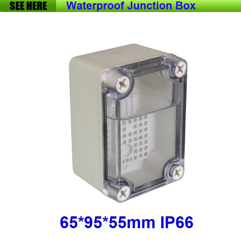 все цены на Free Shipping Good Quality ABS Material Clear Cover IP66 Waterproof Electrical Box 65*95*55mm