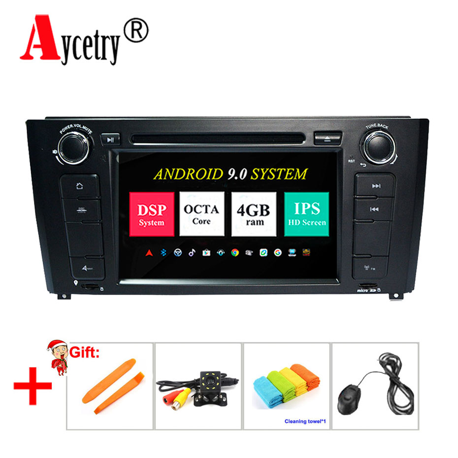 Aycetry IPS DSP Car Multimedia dvd Player 8 core 4G RAM Android 9 GPS audio For BMW/1 Series E81/E82/E88 Car radio stereo obd2